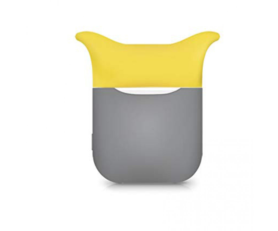 Чехол для Airpods Silicon Case Devil Gray Yellow