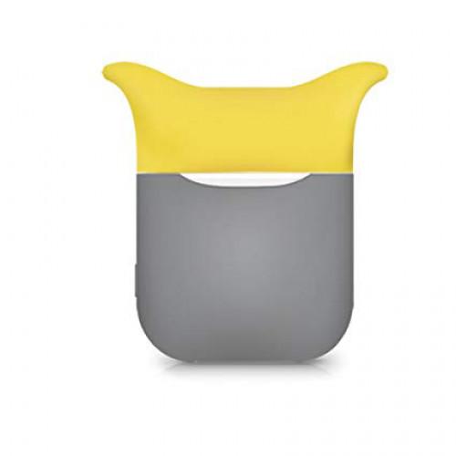 Чехол для Airpods Silicon Case Devil Gray Yellow