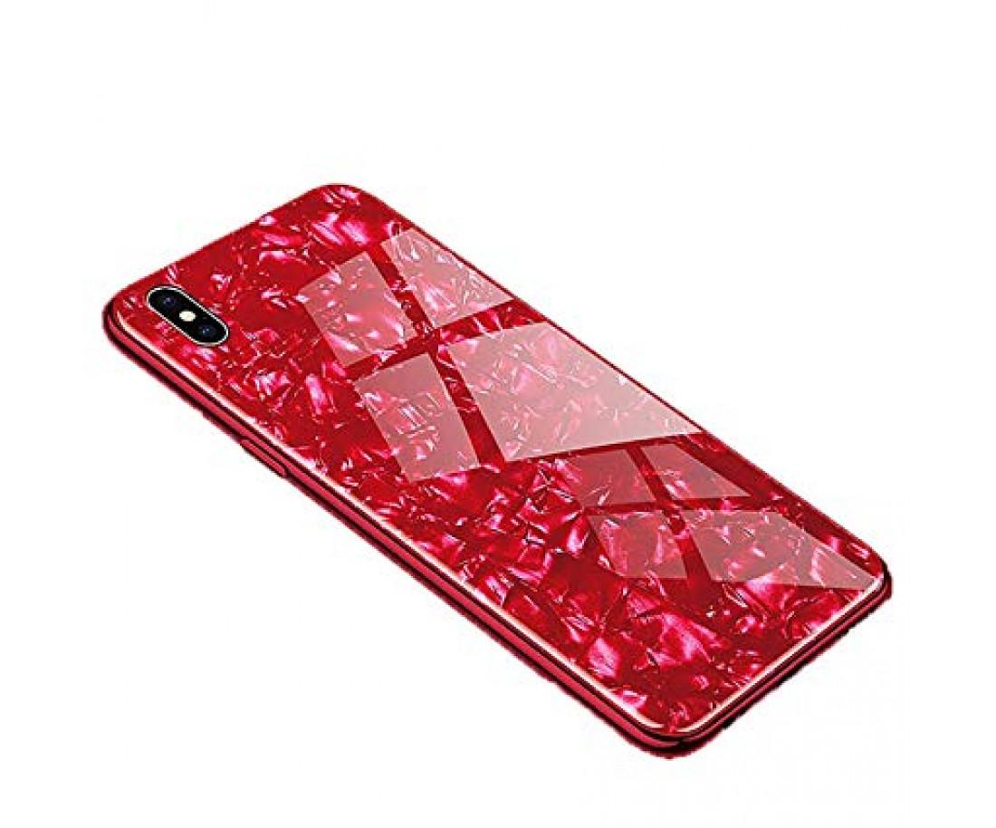 Чехол Proda Glass Marble для iPhone XS Max Red