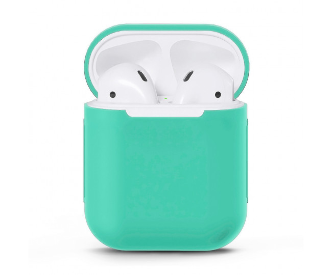 Чехол для Airpods Silicon Case Marine Green