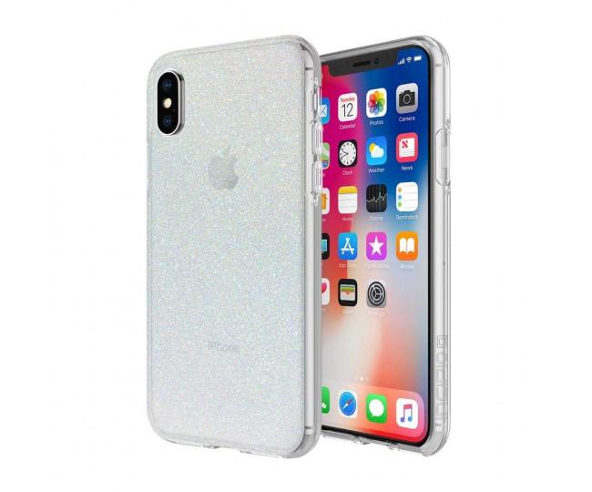 Чехол Incipio Design Series Classic для iPhone X Iridescent White Glitter (IPH-1651-WTG)