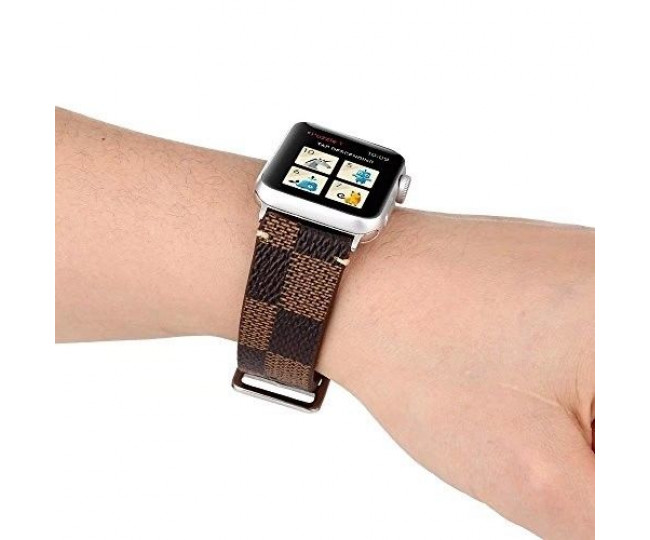Ремешок для Apple Watch 38mm Hermes Louis Vuitton Canvas Brown
