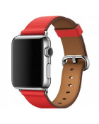 Ремешок для Apple Watch 38mm Hermes Buckle Classic Red