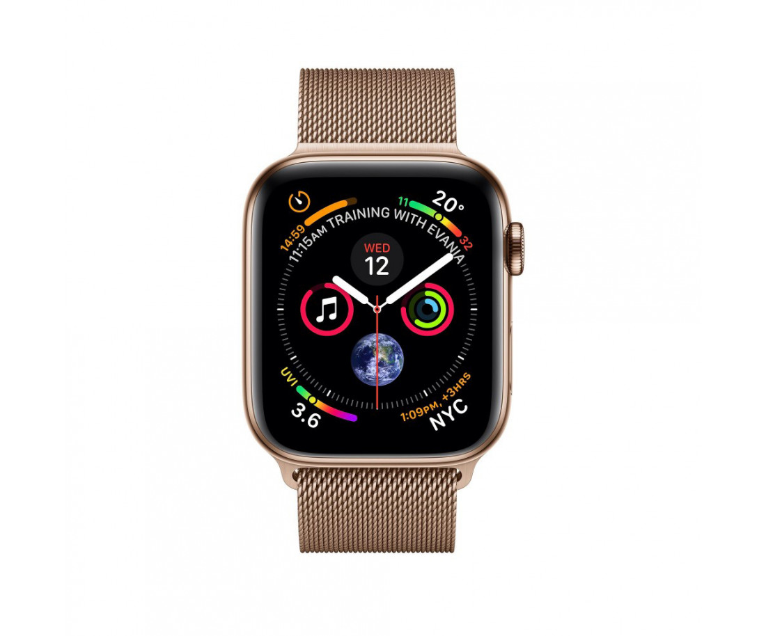 Apple Watch GPS Cellular 44mm Gold Stainless Steel Case with Gold Milanese Loop (MTV82 / MTX52)