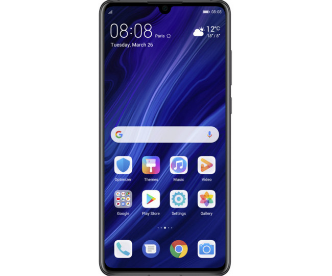 Huawei P30 6/128GB DS Black (51093NDK)(UA UCRF)