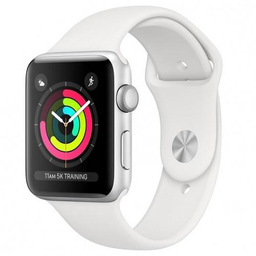 Apple Watch Series 3 GPS 38mm Silver Aluminum w. White Sport band (MTEY2) UA