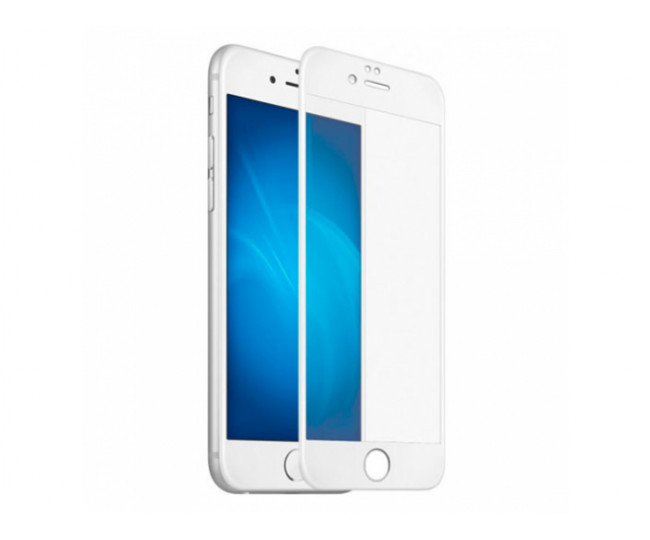 Защитное стекло 5D для iPhone 6Plus/6SPlus White