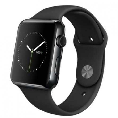 Apple Watch 42mm Space Black Stainless Steel Case with Black Sport Band (MLC82) 3/5 б/у