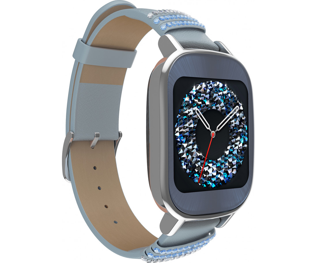 ASUS ZenWatch 2 WI502Q Leather Swarovski edition Silver