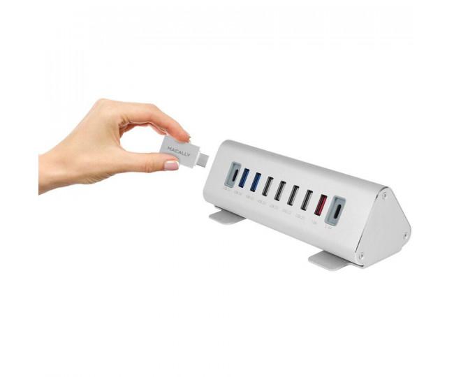 USB-A 3.0 хаб Macally девятипортовый 2х USB-C/3x USB 3.0/ 4x USB