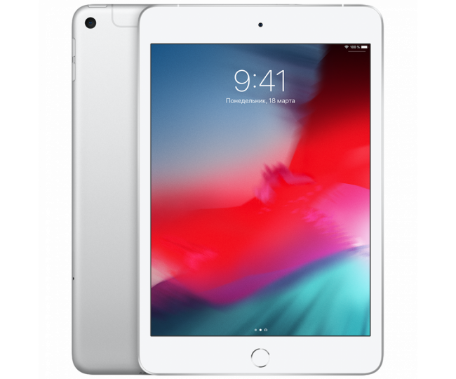 Apple iPad mini 5 Wi-Fi + Cellular 64GB Silver (MUXG2, MUX62)