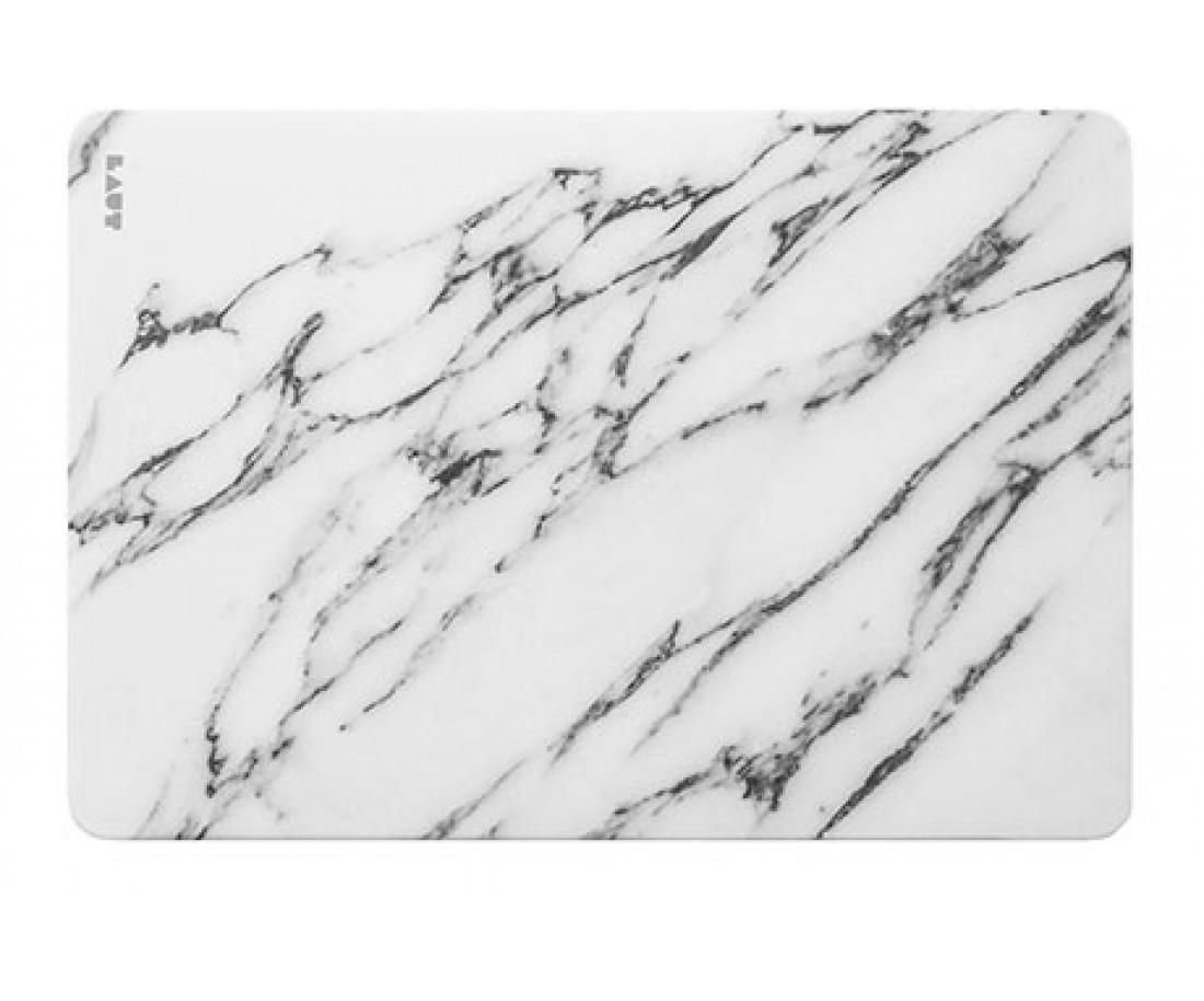 Чехол-накладка Laut HUEX ELEMENTS для 13 MacBook Air (2018), белый мрамор LAUT_13MA18_HXE_MW