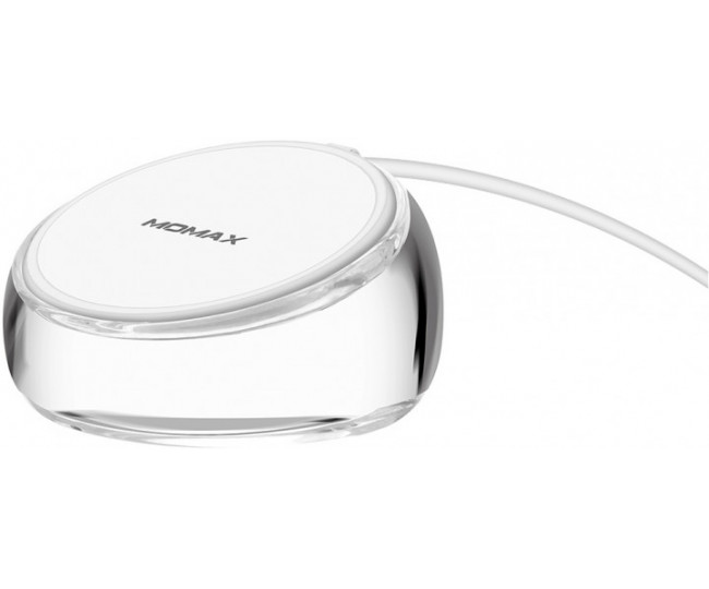 Беспроводное зарядное устройство Momax Q.Dock Crystal Wireless Charger White (UD8W)