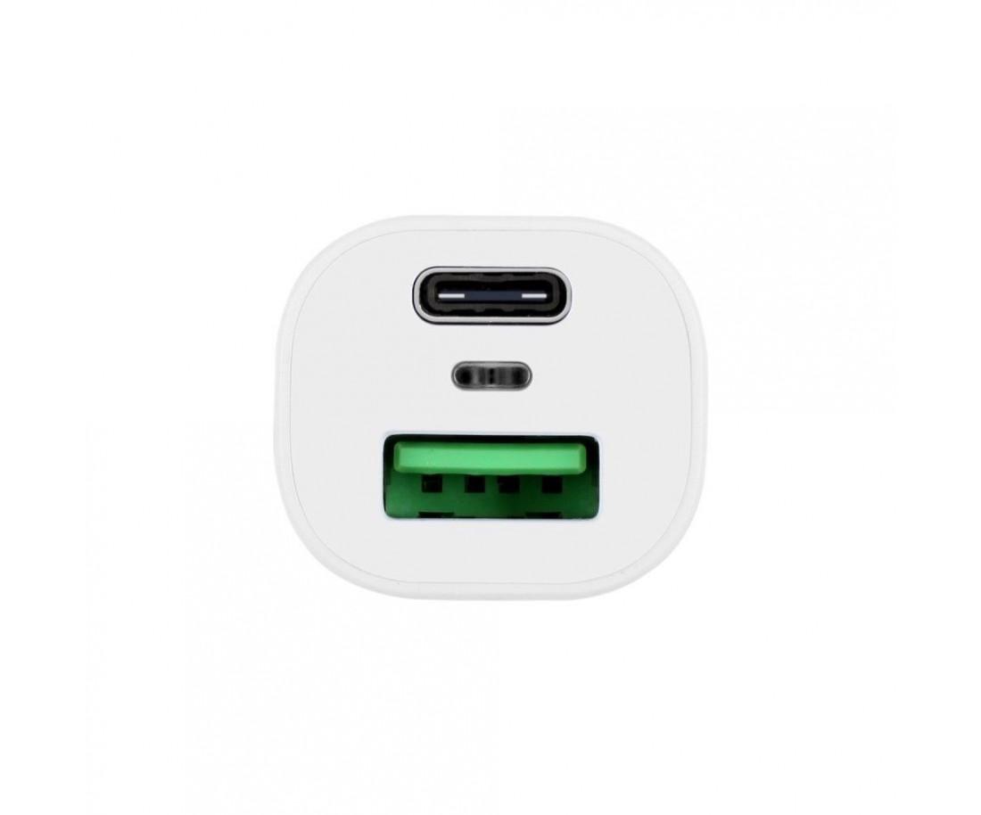 Автомобильное зарядное устройство Momax PD Fast charging White (UC8W)