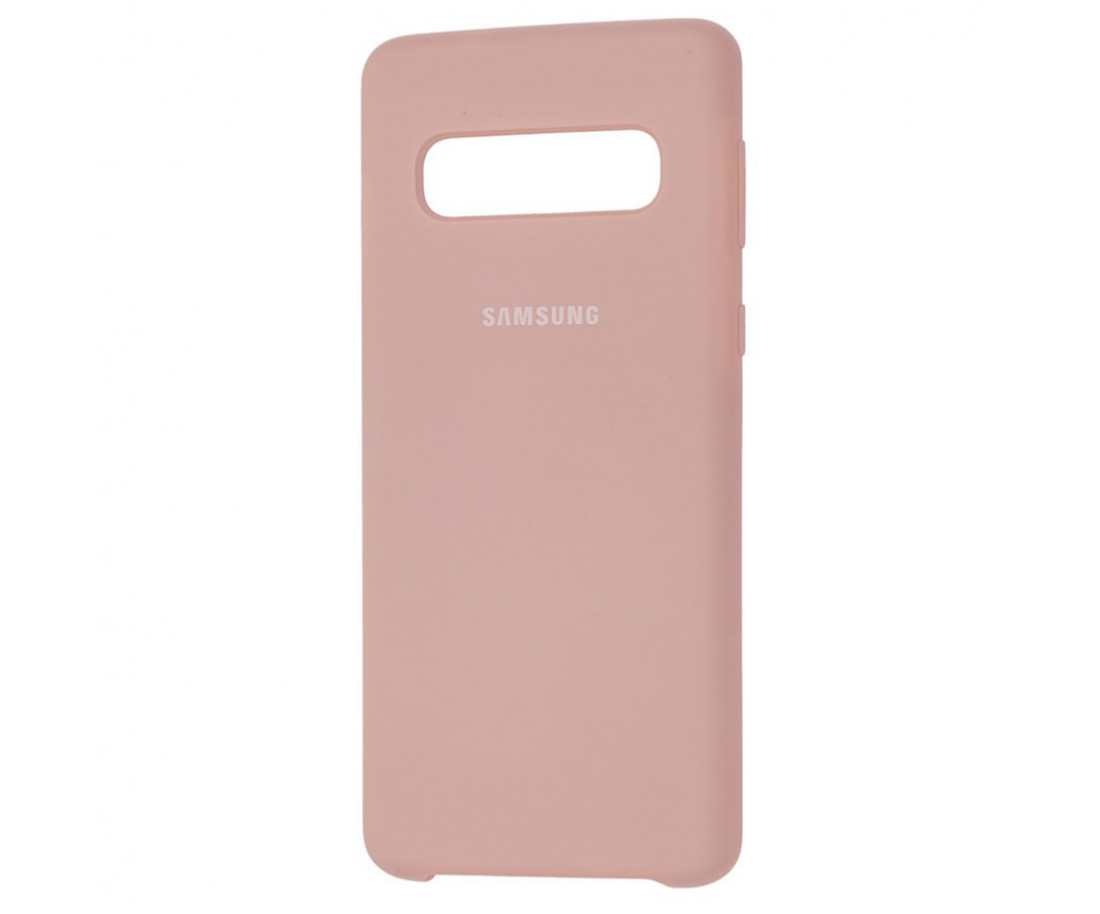 Чехол Samsung Silicone Cover для Samsung Galaxy S10+ Pink Sand