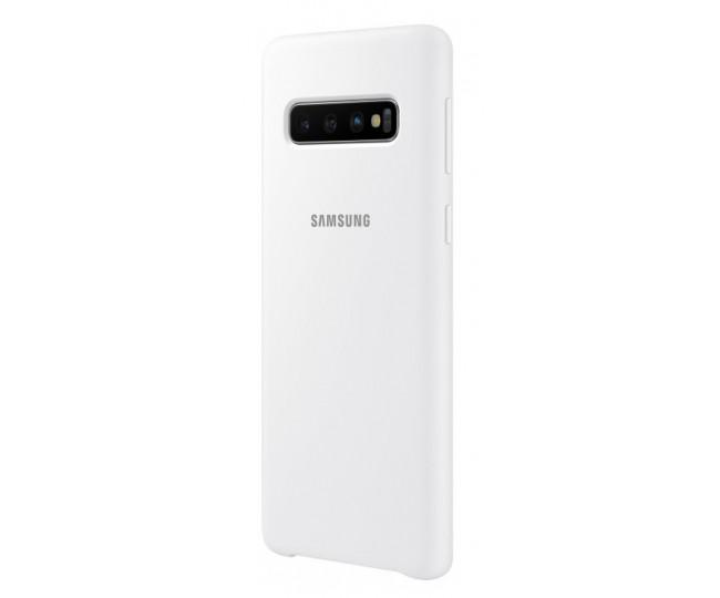Чехол Samsung Silicone Cover для Samsung Galaxy S10 White