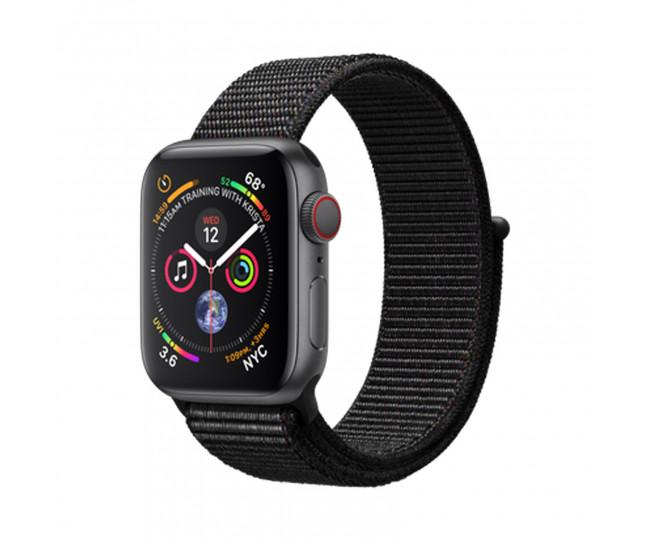 Apple Watch Series 4 (GPS + Cellular) 40mm Space Gray Aluminum Case Black Sport Loop (MTVF2)