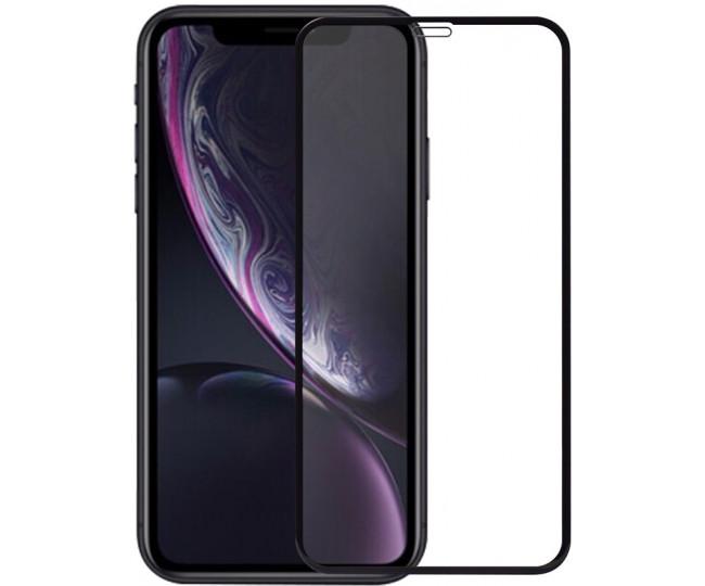 Защитное стекло 5D для iPhone XR, 11 Black б/к
