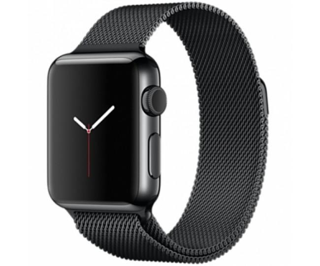 Ремешок Apple Watch 38mm Milanese Loop Black