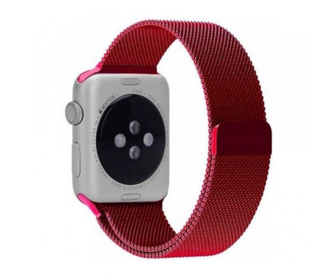 Ремешок Apple Watch 42mm Milanese Loop Red
