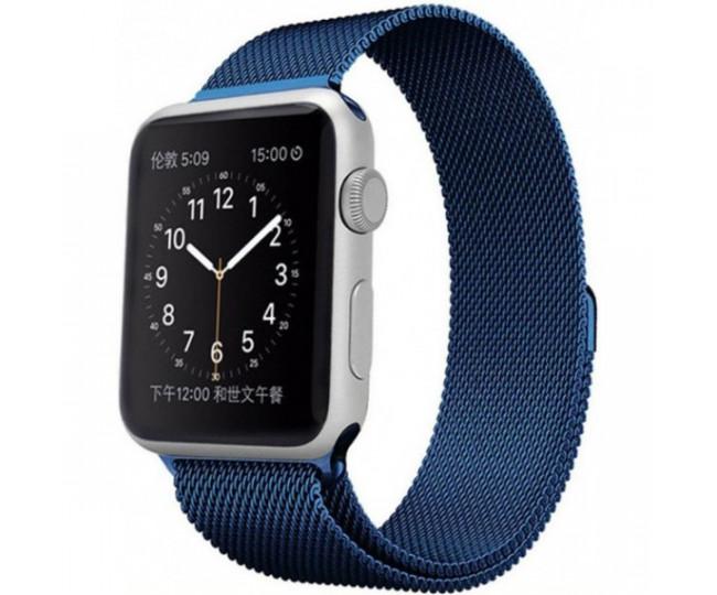 Ремешок Apple Watch 38mm Milanese Loop Blue