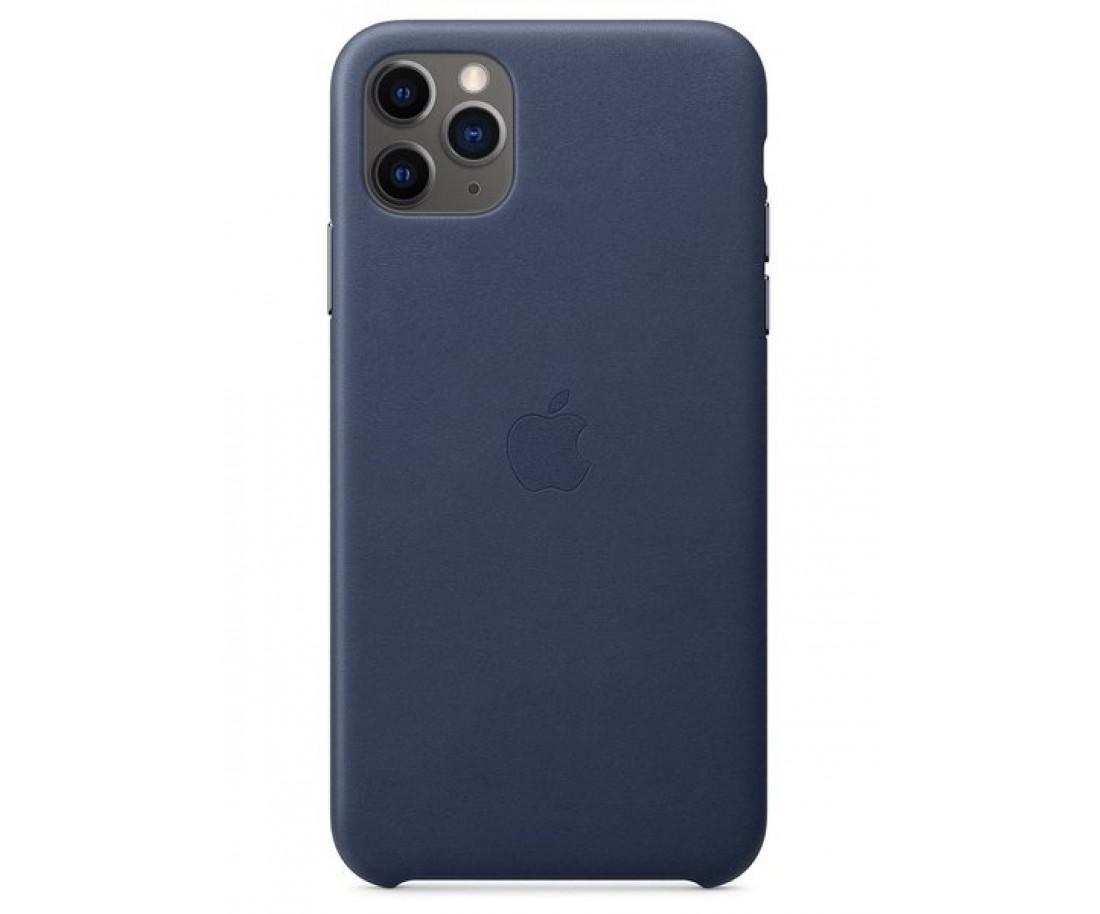 Чехол Apple iPhone 11 Pro Max Leather Case - Midnight Blue (MX0G2)