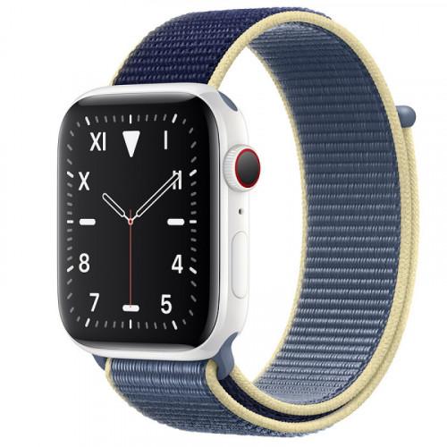 Apple Watch Edition Series 5 GPS + Cellular 44mm White Ceramic Case Alaskan Blue Sport Loop (MX5J2)