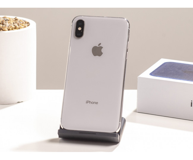 iPhone X 256gb, Silver  б/у