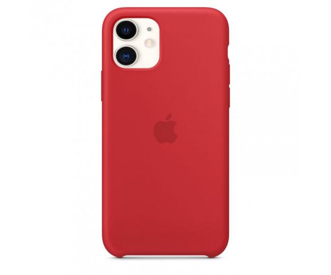Чехол Silicone Slim Weaving для iPhone 11 Red