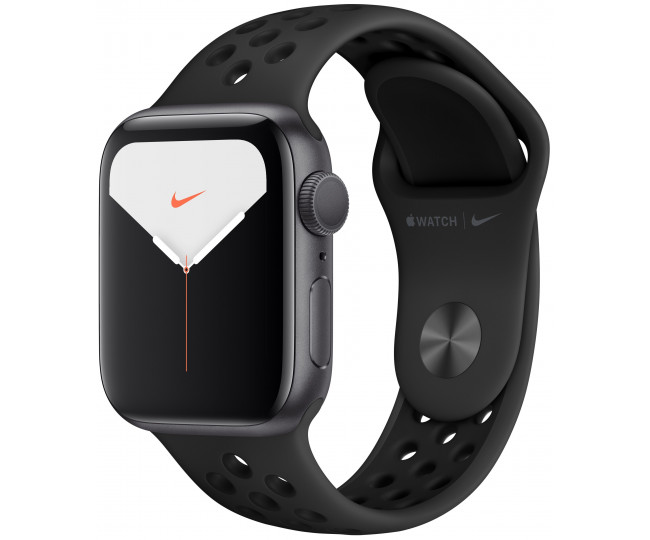 Apple Watch Series 5 Nike (GPS) 44mm SG Aluminum Case with Anthracite/Black Nike Sport Band (MX3W2)