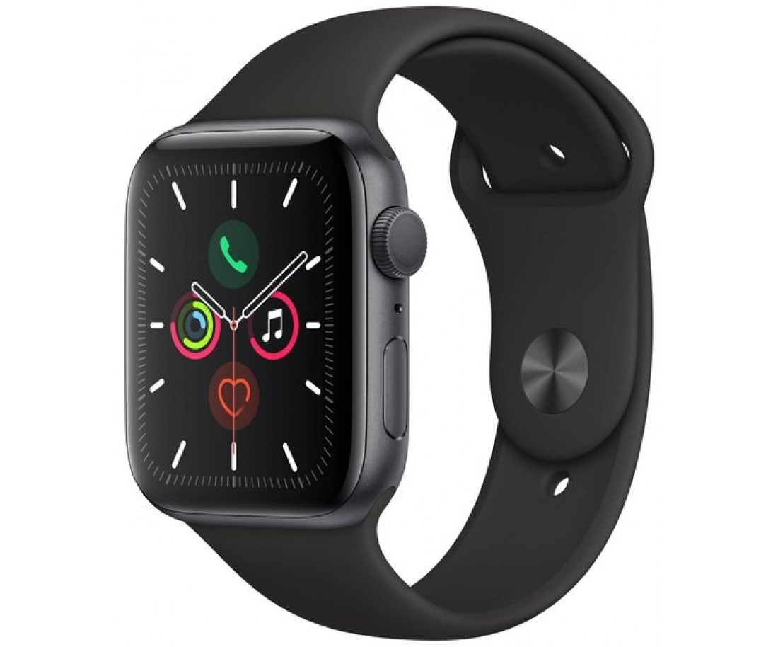 Apple Watch Series 5 (GPS   Cellular) 44mm Space Gray Aluminum Case Black Sport Band (MWW12, MWWE2)