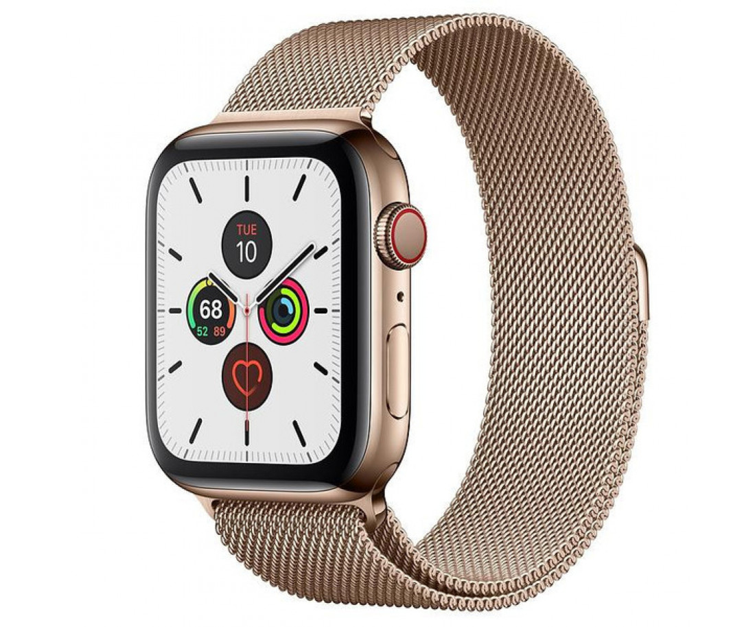 Apple Watch Series 5 GPS + Cellular 44mm Gold Stainless Steel Case Gold Milanese Loop (MWW62, MWWJ2)