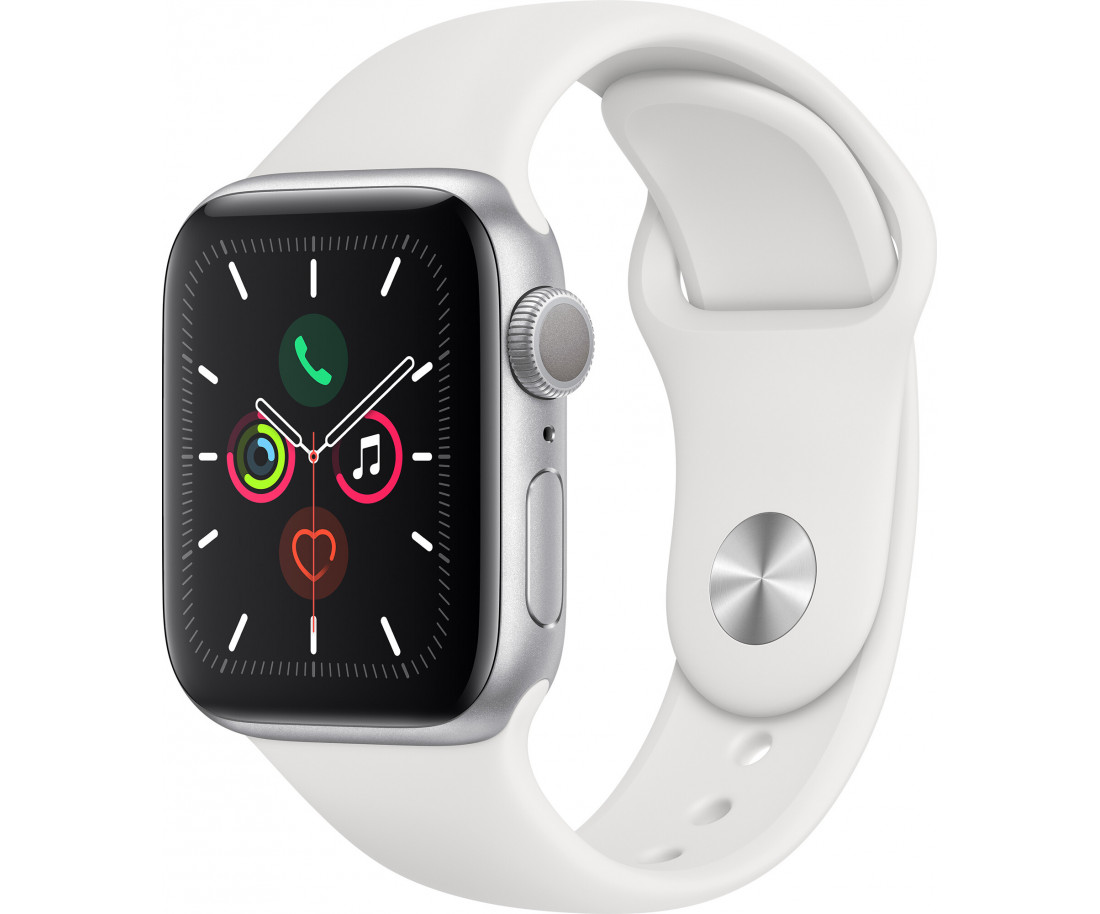 Apple Watch Series 5 GPS + Cellular 40mm Gold Stainless Steel Case with Stone Sport Band (MWX62)