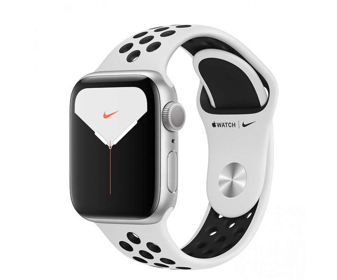 Apple Watch Series 5 Nike (GPS + Cellular) 40mm Silver Pure Platinum/Black Nike (MX372, MX3C2)