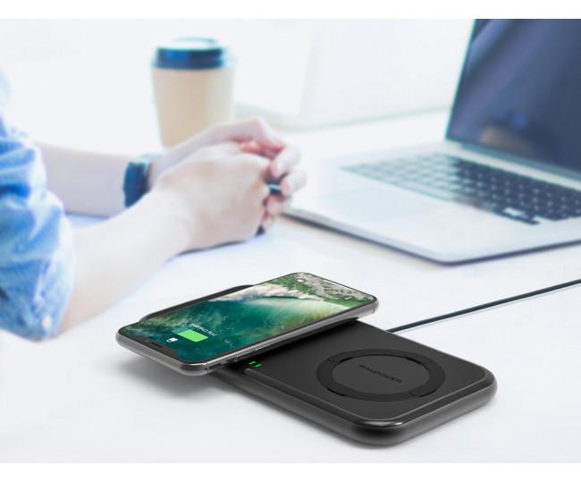 Беспроводное зарядное устройство RAVPower 36W Dual Qi Wireless Fast Charging Pad (RP-PC065)