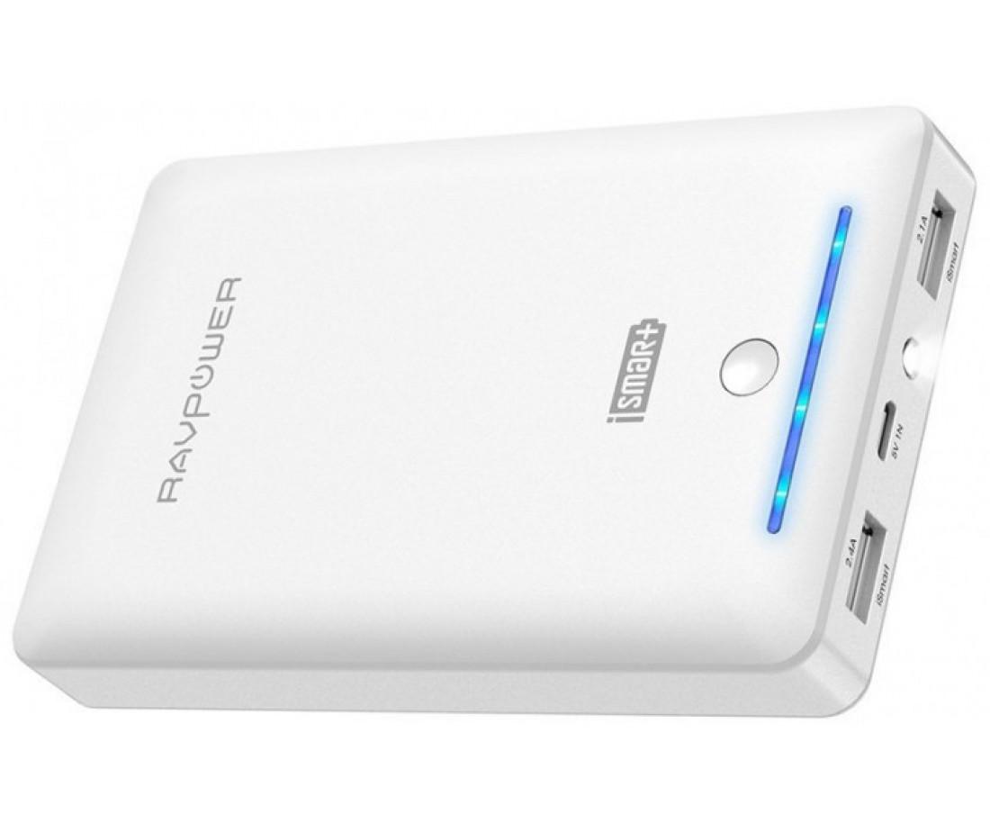 Внешний аккумулятор RavPower 16750mAh, 4.5A Dual USB Output Portable Power Bank White (RP-PB19WH)