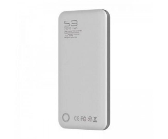 Внешний аккумулятор PURIDEA S3 15000mAh Li-Pol Rubber Grey & White