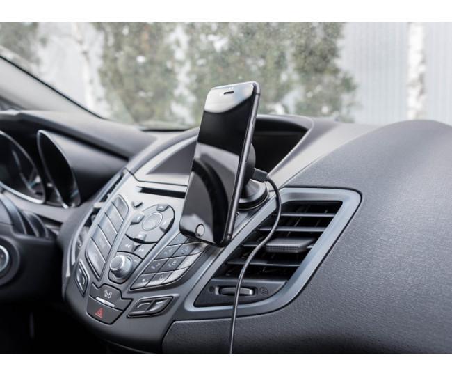 Авто ЗУ Qitech Car and Desk Holder Nano Auto Wireless with QI Black (QT-NA-02Bk)