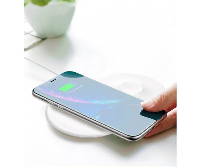 Беспроводная зарядка Baseus Wireless Charger Smart 2 in 1 White