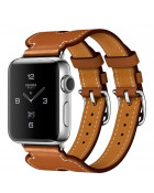 Ремешок Apple Watch 38mm Hermes Double Buckle Cuff Leather Band Fauve Barenia