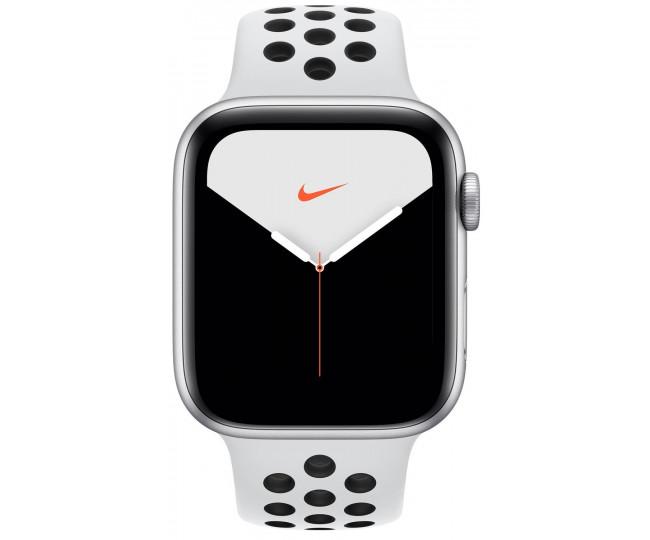 Apple Watch Series 5 Nike (GPS) 44mm Silver Aluminum Case Pure Platinum/Black Nike SportBand (MX3V2)