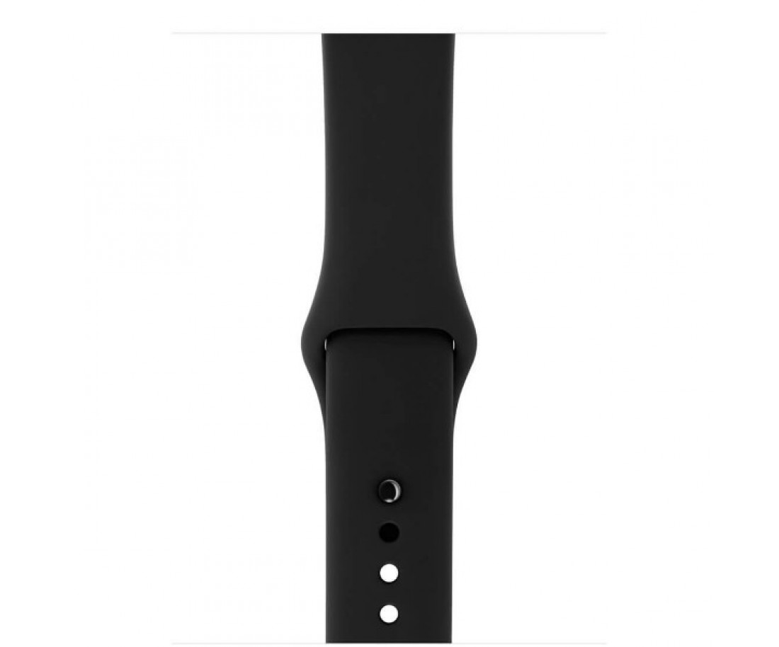 Apple Watch Series 3 GPS + LTE 42mm Space Gray Aluminum Case with Black Sport Band (MQK22)