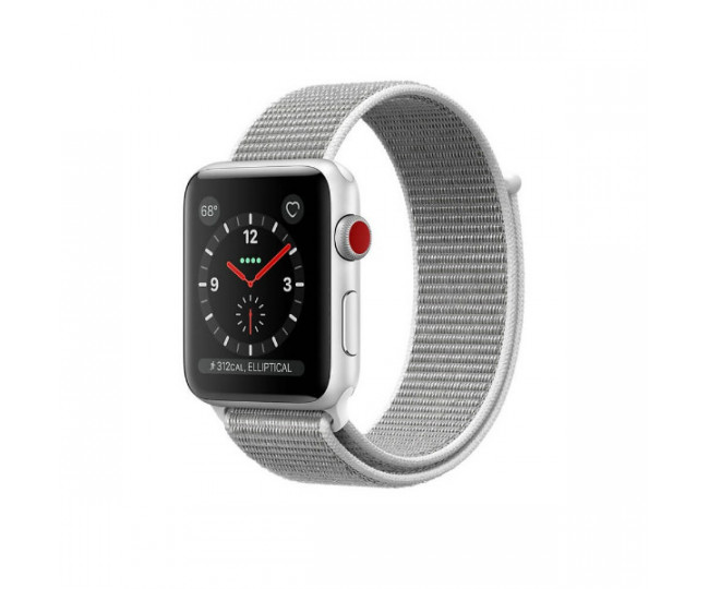 Apple Watch Series 3 GPS + LTE 38mm Silver Aluminum w. Seashell Sport L. (MQJR2)
