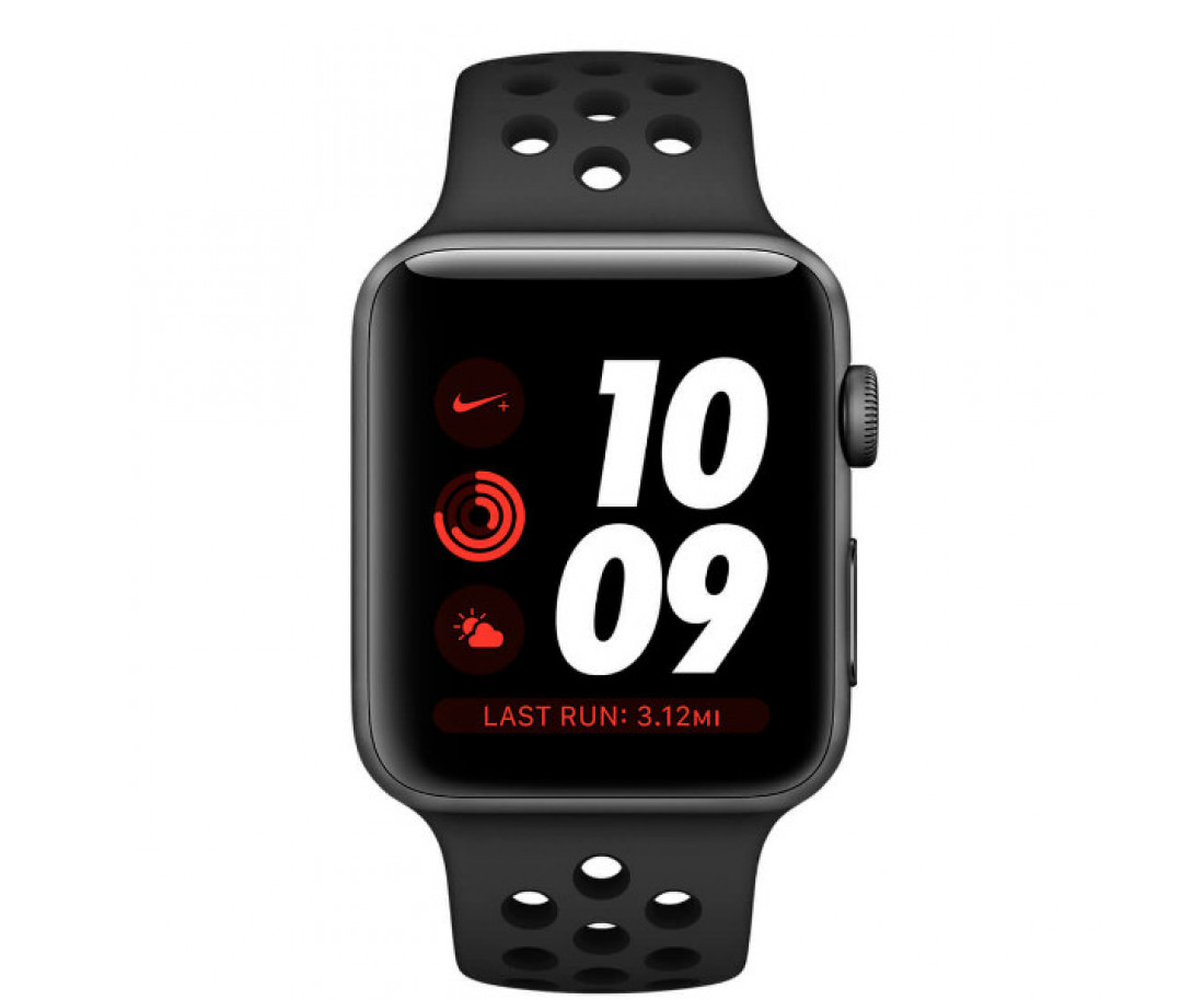 Apple Watch Series 3 Nike+ (GPS + LTE) 38mm Space Gray Aluminum with Anthracite/Black Sport Band (MQL62)
