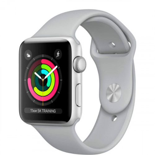 Apple Watch Series 3 42mm GPS Silver Aluminum Case with Fog Sport Band (MQL02)