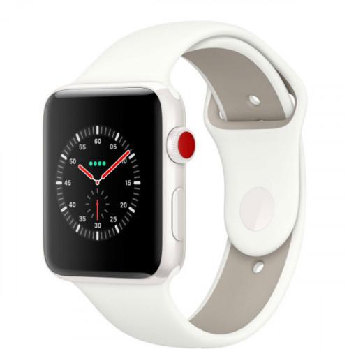 Apple Watch Edition GPS Cellular 38mm White Ceramic/ Soft White/ Pebble Sport Band (MQM32)