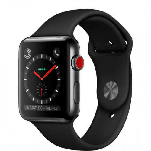 Apple Watch Edition Series 3 GPS + Cellular 42mm Gray Ceramic Case with Gray/Black Sport Band (MQKE2)
