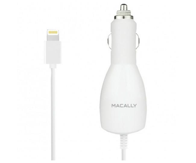 АЗУ Macally 10 Watt/2.1A + Lightning cable White