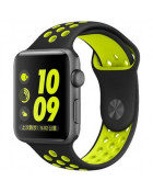 Ремешок COTEetCI W12 for Apple Watch Nike Band 42mm Black/Yellow (WH5217-BK-YL)