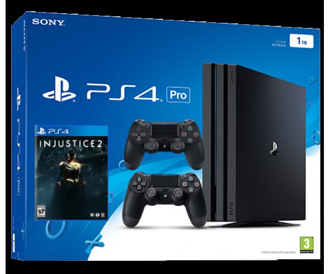 Playstation 4 Pro + Доп Джойстик + Игра Injustice 2